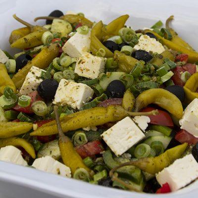 Salat mit Schafskäse